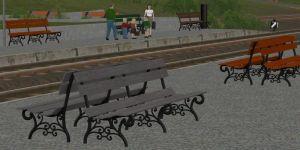 LBE-Park- und Bahnsteigbänke