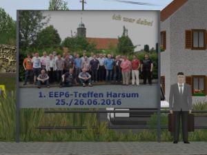 """Plakatwand """"1. EEP6-Treffen Harsum"""""""